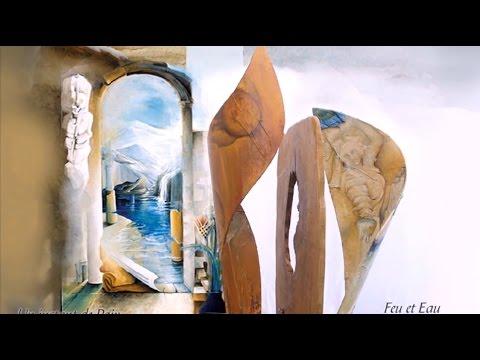 Musique de relaxation (Zen music - F. Amathy) et étonnante peinture, Art (C. Dislaire-Al)