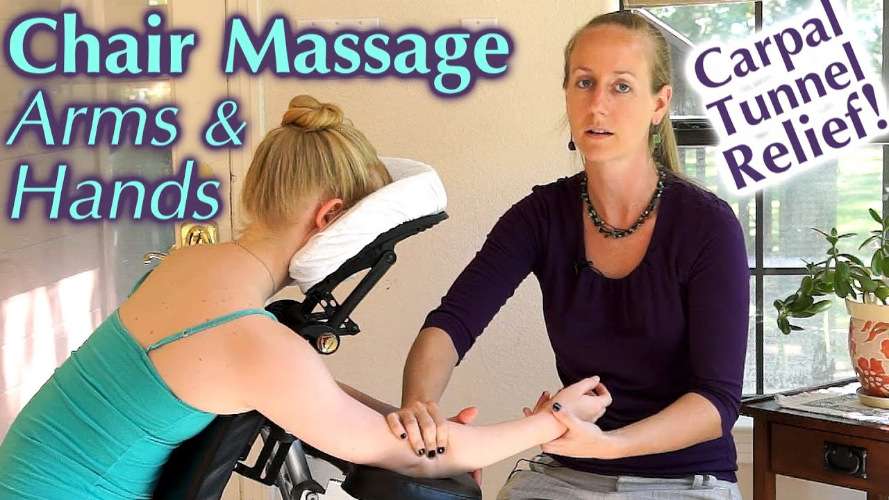 Chair massage therapy - Massage For Carpal Tunnel Arthritis Pain Relief Therapy Techniques For Hands Arms Chair Massage Youtube