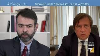 """Vaccino per migranti irregolari, francesco borgonovo contro pierpaolo sileri: """"immaginate che ..."""