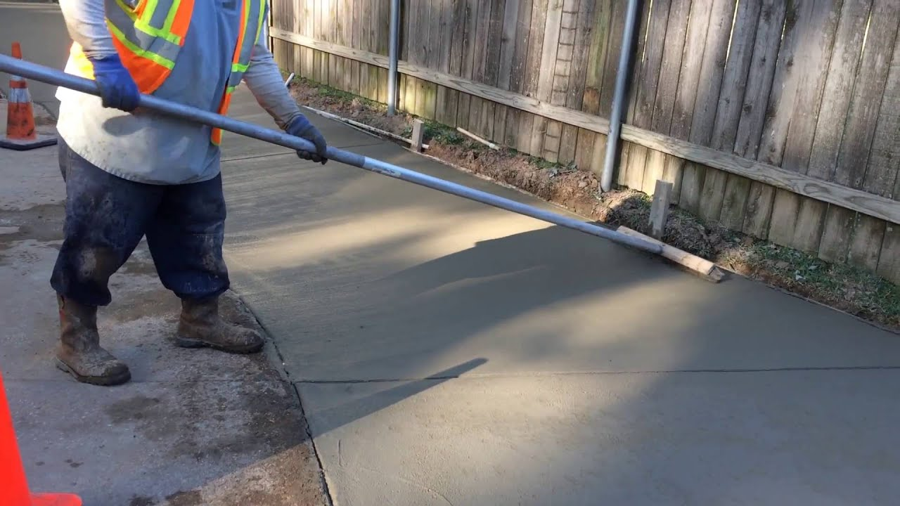 Best How To Video Broom Finish Concrete Driveway Repair