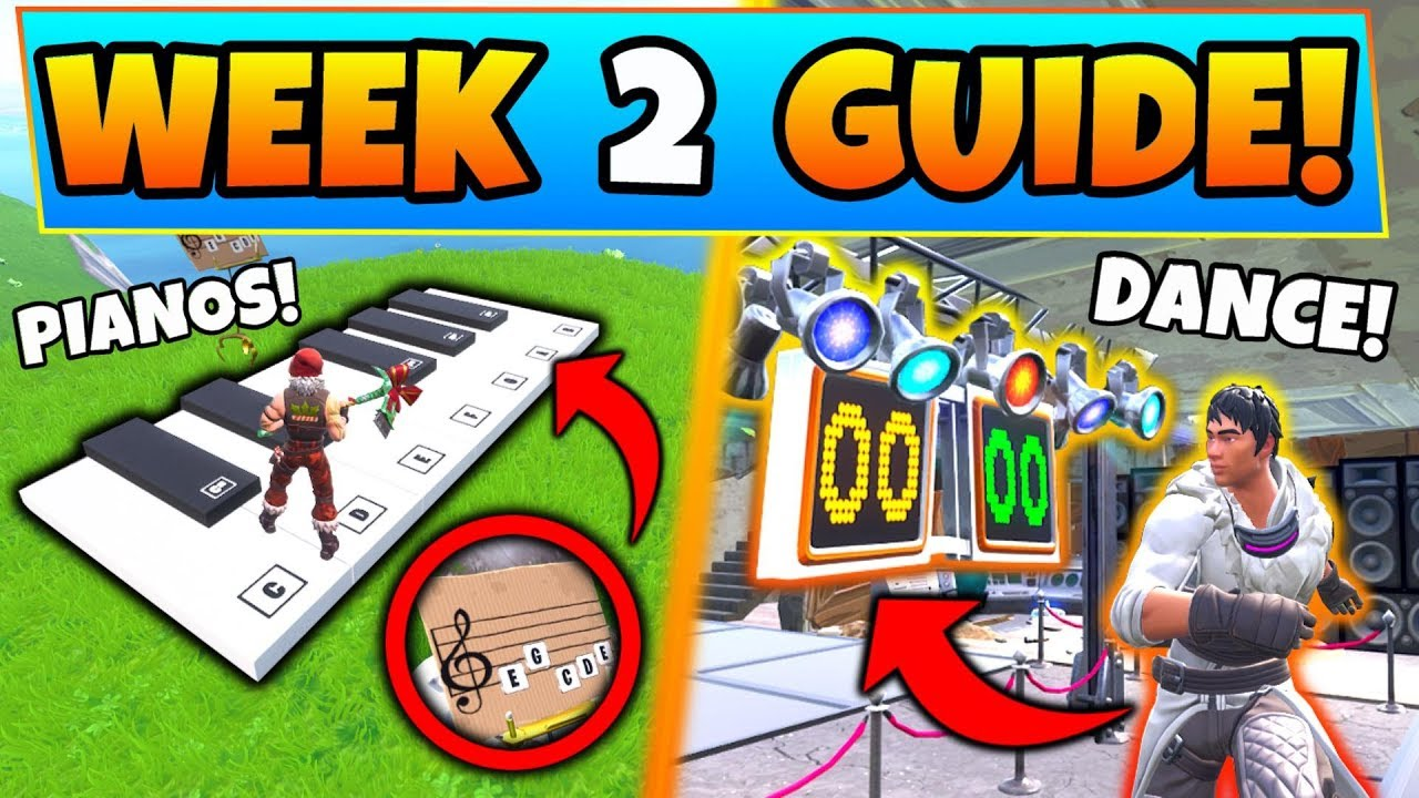 Fortnite Week 2 Challenges Guide Dance Off Sheet Music Piano