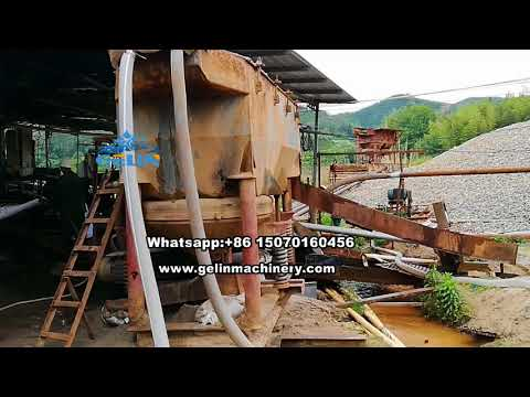 Complete turn key rock and alluvial sand Cassiterite mining processing plant