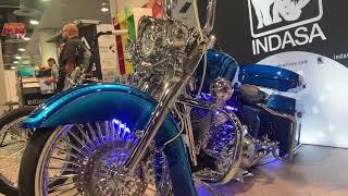 SEMA 2019 Custom Harley Road King Hertz AMS Bagger Stereo Project 553
