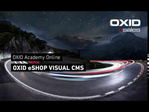 OXID Academy - OXID eShop Visual CMS [ENGLISH]