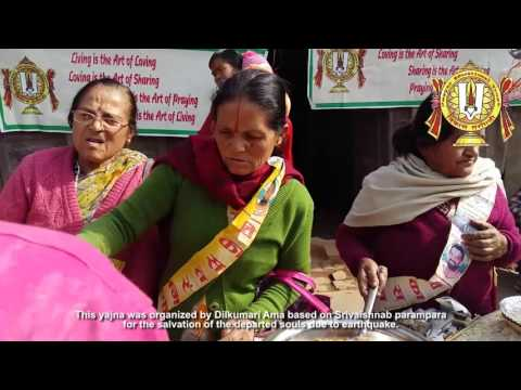 Glance of Serving Bhojans by VT/JET Nepal in Srimadbhagwat Yagna on Sankhu