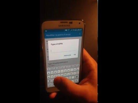 Configuration Du Réseau 3G,4G De Votre Samsung