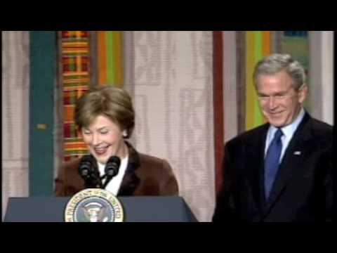 First Lady Laura Bush talks about DIG and Steve