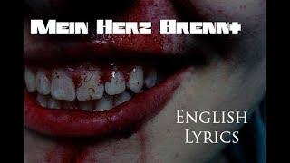 """RAMMSTEIN """"Mein Herz Brennt"""" English Lyrics HD"""