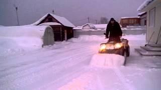 Уборка снега квадроциклом стелс 500 гт(, 2014-02-26T15:52:35.000Z)
