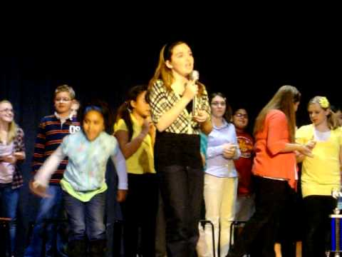 """Olivia performs in Orchard Valley Middle School play 'YEARBOOK"""" 2010"""
