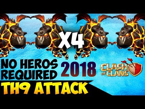 TETRALAVA: TH9 BEST WAR ATTACK STRATEGY 2018 (Updated) | No Heros Required | Clash of Clans