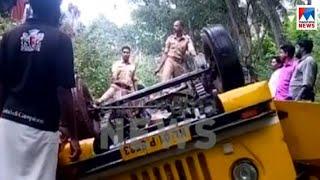 വിഴിഞ്ഞത്തു സ്കൂള് ബസ് കനാലിലേക്ക് മറിഞ്ഞു; നിരവധി കുട്ടികള്ക്ക് പരുക്ക് | School bus accident
