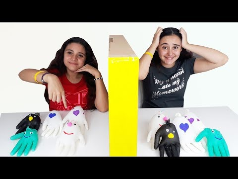 SLIME por TELEPATÍA con GUANTES ! twin Telepathy slime gloves challenge.