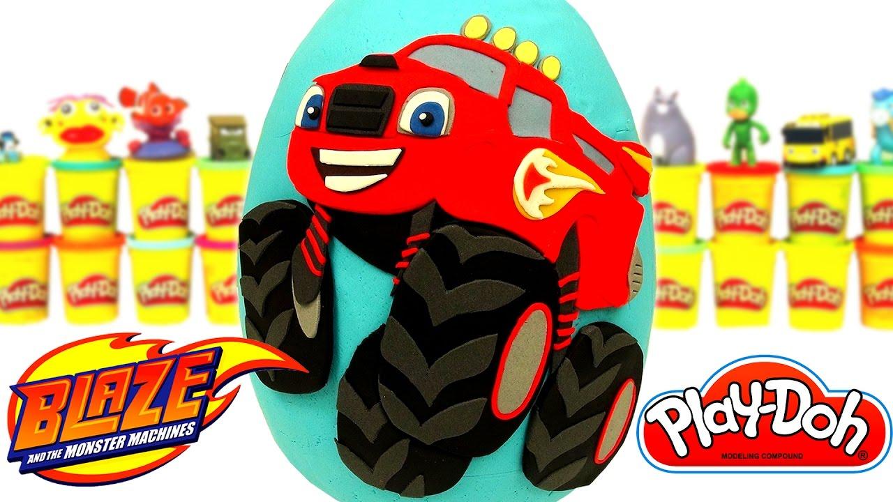 Y Español Huevo Machines De Los Monster Gigante Plastilina Doh Sorpresa En Play Blaze WD9YEeHIb2