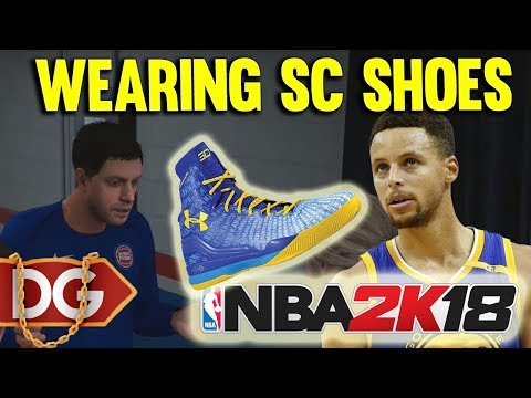 WEARING CURRY SHOES ??? - NBA2k18 MYCAREER CENTER GAMEPLAY #6