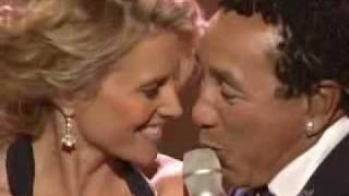 Lucy Lawless and Smokey Robinson