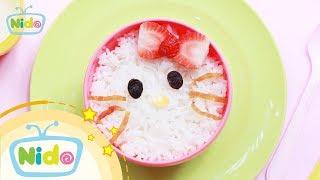 Món ăn ngọt ngào: Hướng Dẫn Làm Bento Mèo Kitty - Bé vào bếp cùng mẹ | Nido Channel
