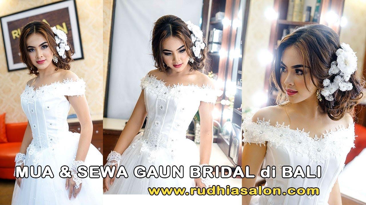 Sewa gaun pengantin & make up murah denpasar city, bali - YouTube