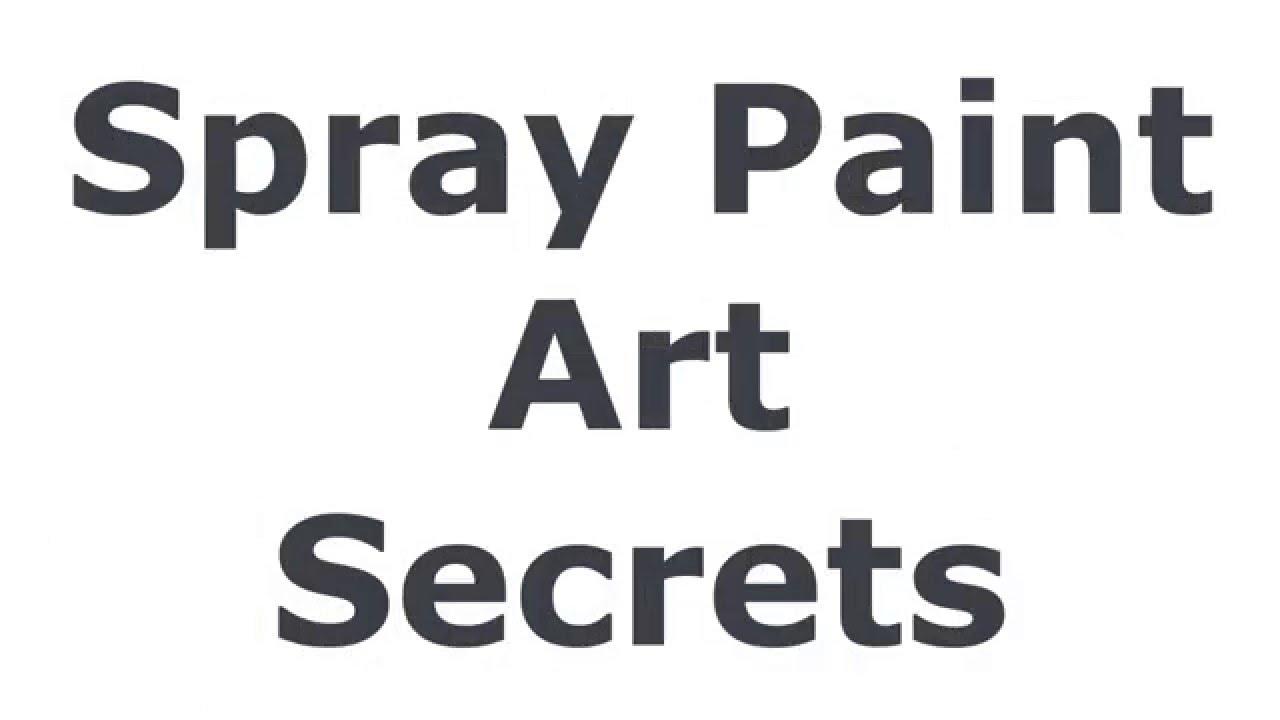 Spray Paint Art - YouTube