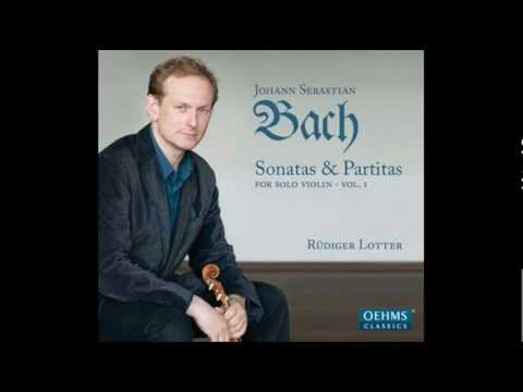 Rüdiger Lotter plays Ciaconna BWV 1004 new release OehmsClassics OC 838