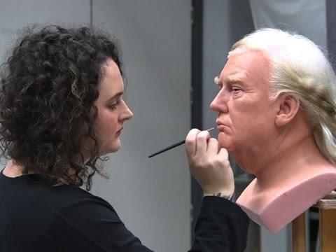 Madame Tussauds Trump Wax Figure Taking Shape