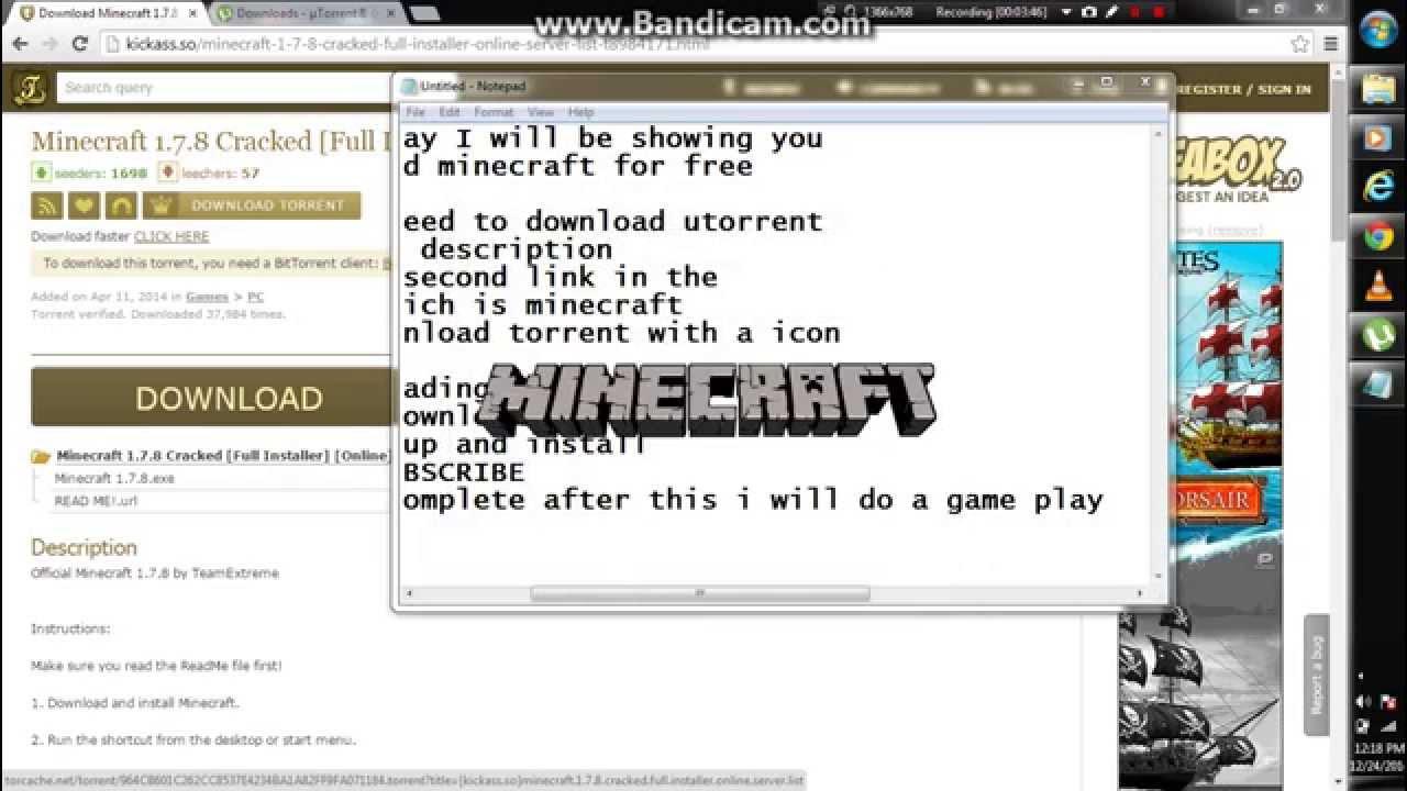 minecraft torrent kickass