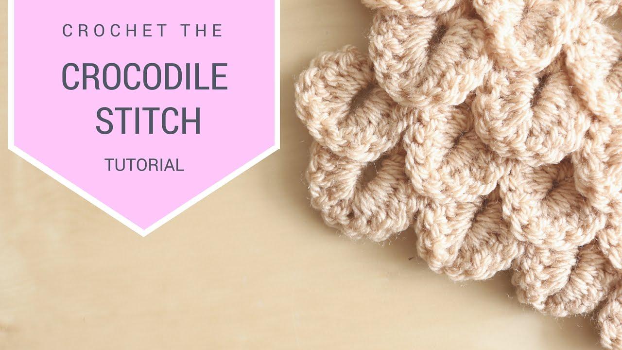 Crochet how to crochet the crocodile stitch bella coco youtube dt1010fo