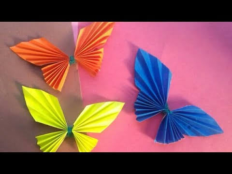Paper Butterfly Wall hanging   easy home/wall decoration ideas - diy - paper craft
