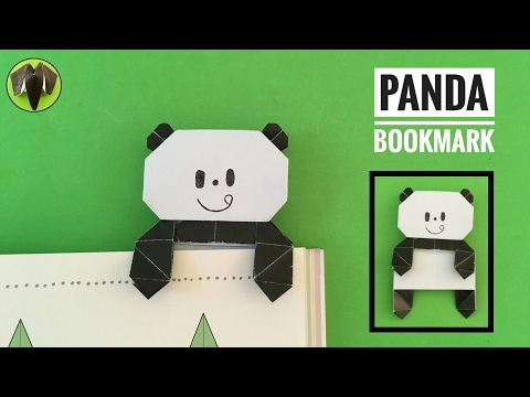 Panda Bookmark  by Mizutama - DIY Origami Tutorial by Paper Folds - 692
