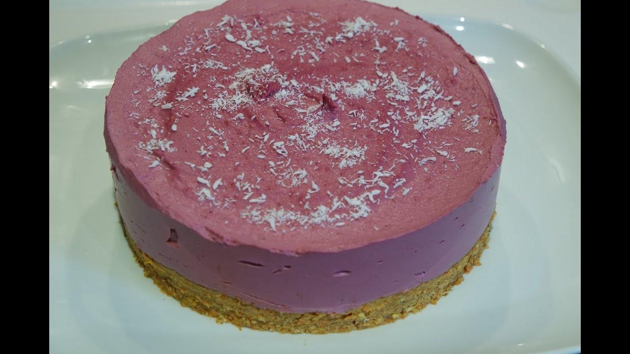 Rezept: rohvegane Möhren Himbeer Torte (100% vegan & roh) - YouTube