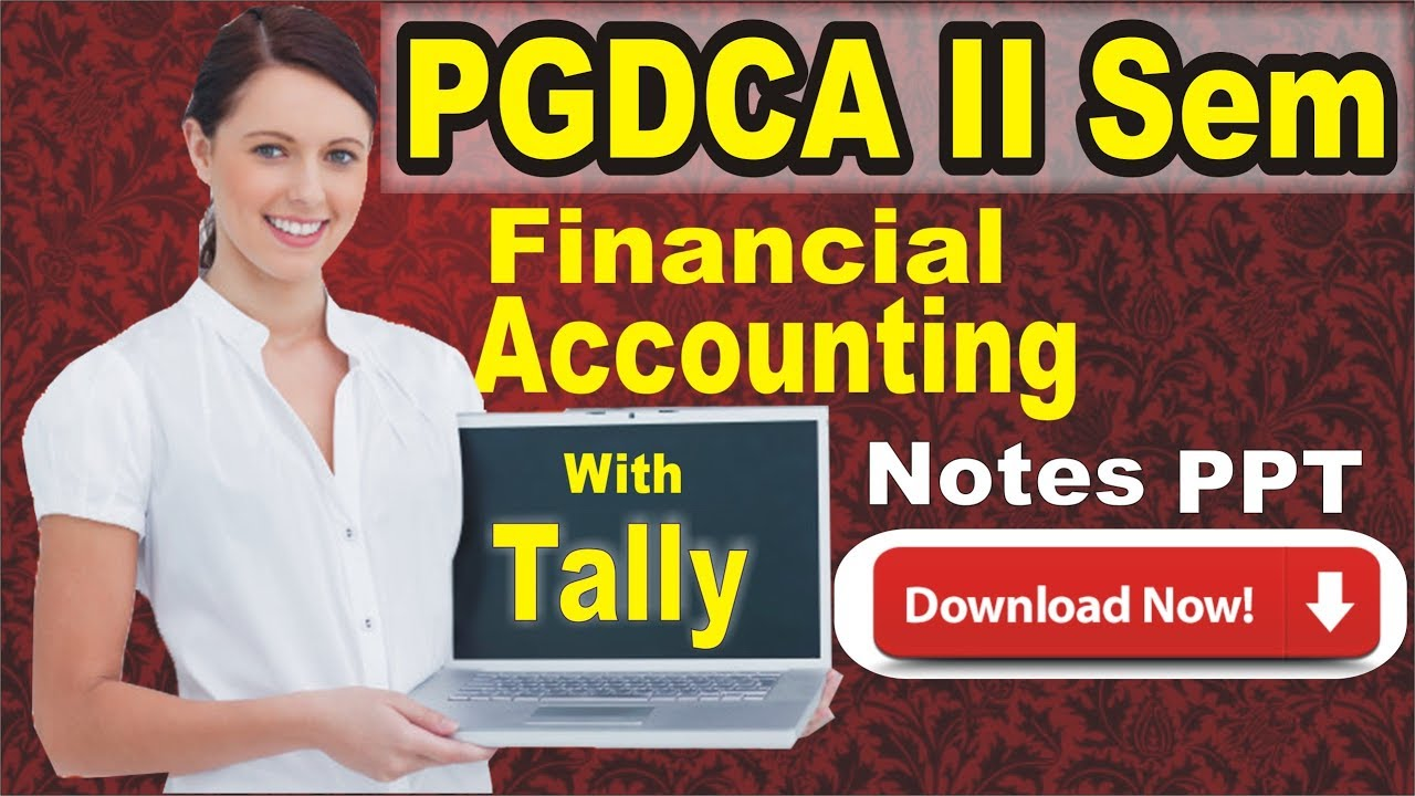 PGDCA II Sem Financial Accouting With Tally Notes in Hindi | Tally Notes In  Hindi PDF EBook Download
