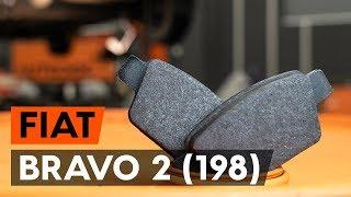 Montavimo gale ir priekyje Stabdžių Kaladėlės FIAT BRAVO II (198): nemokamas video