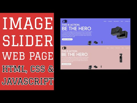 Image-Slider Web Page Using HTML, CSS And JAVASCRIPT