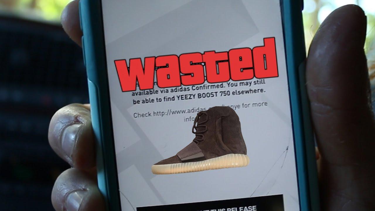 fd1c9380fdcf Adidas Confirmed App Fail (Yeezy 750 Brown) - YouTube