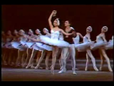 """Yulia Makhalina as Odette for the first time in """"Swan Lake"""" in 1987 (debut)."""