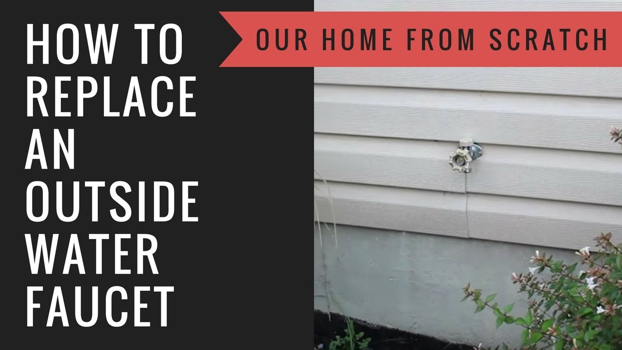 How to Replace an Outside Water Faucet - YouTube