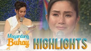 Magandang Buhay: Mariel cries while reading Queenie's message