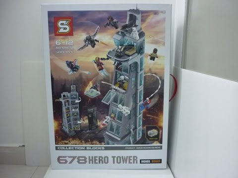 Sheng Yuan Lego Bootleg A678 Avengers Tower set SH678 review