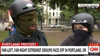 Portland Antifa Protesters Say Antifa Doesn't Instigate Violence They Just Respond To It!