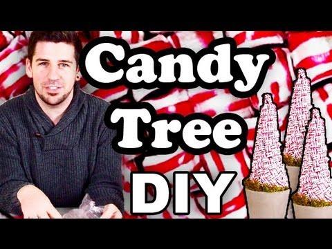 Weihnachtsdeko Tipp Diy - Bonbon Baum! - Youtube Glitzerbaum Selber Machen