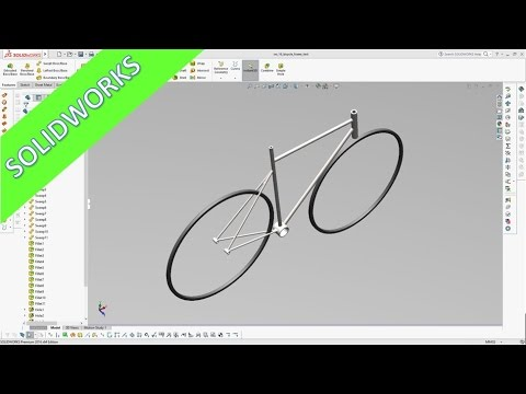 Bicycle Frame - Quick & Dirty - SolidWorks 2016 Training - Part Design