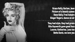 Madonnac - Vogue  Lyrics On Screen