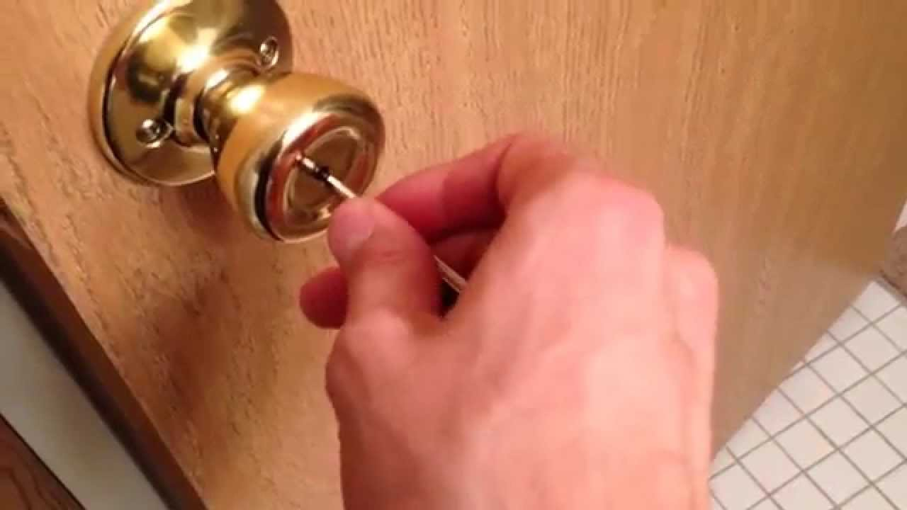 how to unlock a locked bedroom door from the outside