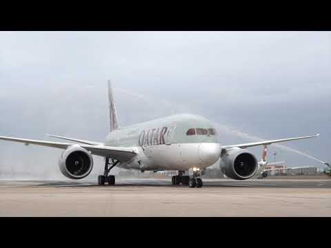 Qatar Airways Inaugural Flight to Lisbon, Portugal