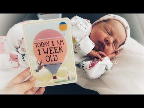 ВЛОГ с новорожденным: возраст 1 неделя и первые трудности