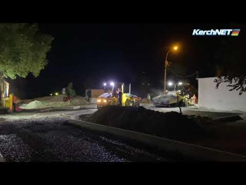 kerchnettv: Двор по улице Кавказской начали асфальтировать