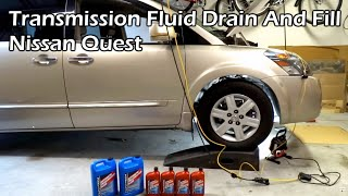 Automatic Transmission Fluid Drain and Fill - Nissan Quest