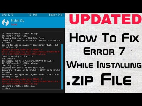 How To Fix Error 7 In TWRP Recovey While Installing/Flashing Any Custom ROM  2018