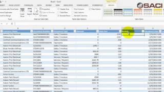 Microsoft Dynamics GP - Excel AR ميزان المراجعة