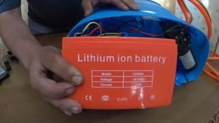 Обприскувач з літієвим акумулятором